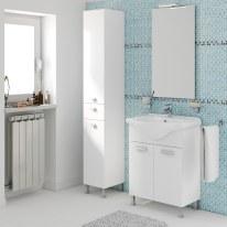Mobile bagno Rimini bianco L 65 cm