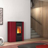Termostufa a Pellet Superior Terry TH 10,4kw 13,2 kW bordeaux