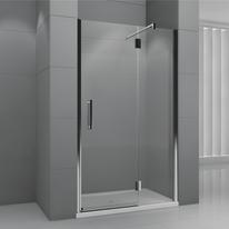 Porta doccia battente Modulo 168-171, H 195 cm cristallo 6 mm fumè/cromo
