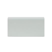 Battiscopa Passacavo Plus bianco 15 x 80 x 2000 mm