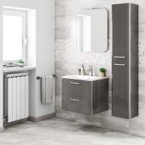 Mobile bagno Best grigio antracite L 61 cm