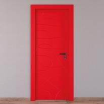 Porta da interno battente Wind red rosso 70 x H 210 cm sx