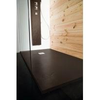 Piatto doccia resina Pizarra 100 x 160 cm cacao