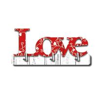 Gancio da parete adesivo Love L 14 x H 7 mm