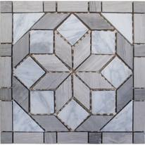 Formella Helsinki bianco,grigio 30 x 30 cm