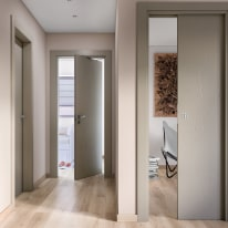 Porta da interno battente The Thing grigio 80 x H 210 cm dx
