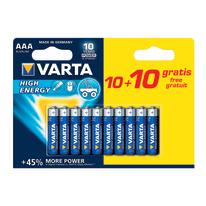 Pila alcalina ministilo AAA Varta High energy 10+10 Free