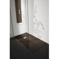 Piatto doccia resina Liso 90 x 80 cm cacao