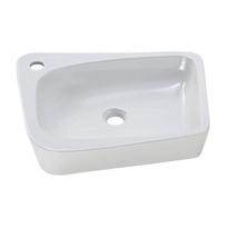 Lavabo da appoggio rettangolare Aragon L 50 x P 10 x H  40,5 cm bianco