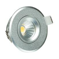 Faretto da incasso LMS1.3SLW cromo LED integrato fisso tonda Ø 6,8 cm 3 W = 305 Lumen luce calda