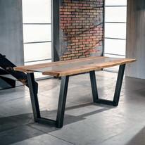 Tavolo Vertigo legno e vetro L 200 x P 85 x H 80 cm grezzo
