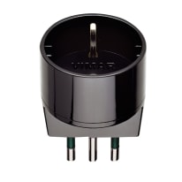 Adattatore RI. 00302N S11 + P30 semplice 10A, Vimar nero