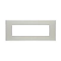 Placca 7 moduli BTicino Livinglight grigio ghiaccio