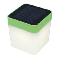 Lampada solare Table cube verde