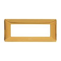 Placca 6 moduli BTicino Matix oro lucido