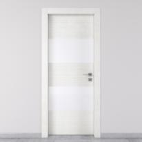 Porta da interno battente Melangè bianco 70 x H 210 cm sx