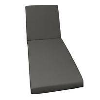 Cuscino lettino grigio 56 x 186 cm