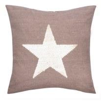 Cuscino stellato oro 45 x 45 cm
