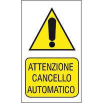 Targa Attenzione cancello automatico