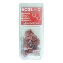 Copriviti Ecolfix rosso Siena, confezione da 10 pezzi