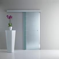 Porta da interno scorrevole Eridano trasparente 76 x H 215 cm reversibile