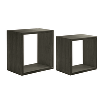 Set 2 cubi Spaceo rovere scuro, sp 2,2 cm