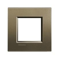 Placca 2 moduli BTicino Livinglight square