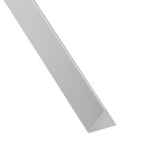 Profilo angolare a L in alluminio brillante, L 30 x H 30 x S 2 mm x P 1 m