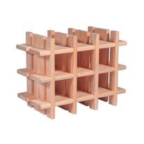 Scaffale legno portabottiglie 9 posti 2 ripiani L 43 x P 22 x H 32,5 cm