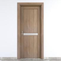 Porta da interno battente Spyhole sand larice sabbia 90 x H 210 cm dx