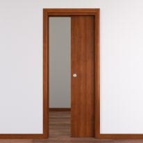 Porta da interno scorrevole Mudek Noce nazionale 80 x H 210 cm reversibile