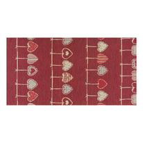 Tappetino cucina antiscivolo Deco cuore rosso 53 x 280 cm