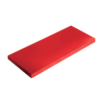 Mensola Spaceo rosso L 36 x P 15,5, sp 1,8 cm
