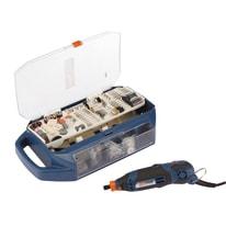 Mini trapano a filo Dexter con 198 accessori in valigetta