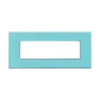 Placca 7 moduli CAL Unika azzurro