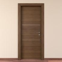 Porta da interno battente Tussauds Cacao 80 x H 210 cm sx