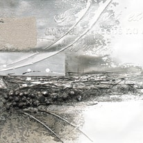 quadro dipinto a mano A storms wings II 40x40
