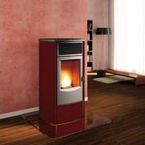 Stufa a Pellet Sabrina 11,1 kW bordeaux