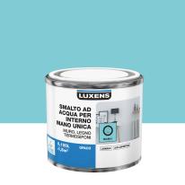 Smalto manounica Luxens all'acqua Blu Miami 5 opaco 0.125 L