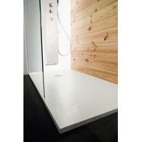 Piatto doccia resina Pizarra 90 x 70 cm bianco