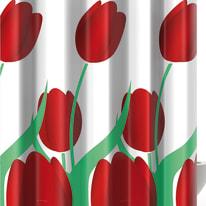 Tenda doccia Tulipano verde L 180 x H 200 cm