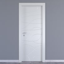 Porta da interno battente Wind white bianco 70 x H 210 cm dx