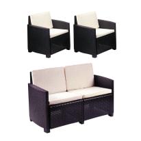 Set 2 poltrone O divano a 2 posti lipari antracite