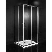 Box doccia scorrevole Crystal 67-69 x 87-89, H 190 cm vetro temperato 6 mm trasparente/cromo