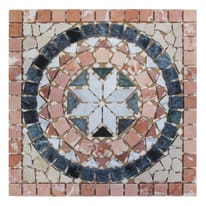 Rosone Garda bianco,rosso,beige 33 x 33 cm