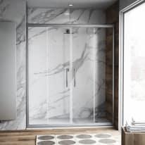 Porta doccia scorrevole Namara 165-170, H 195 cm cristallo 8 mm trasparente/silver