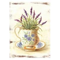 Quadro in legno Flowers vaso lavanda 20,5x30,5