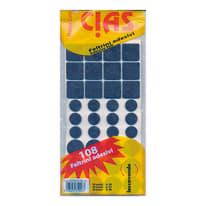 108 feltrini adesivi varie misure
