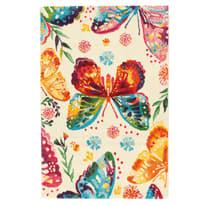 Tappeto Farfalle crema 100 x 150 cm