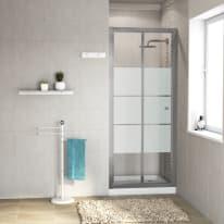Porta doccia Dado 77-80, H 185 cm cristallo 5 mm serigrafato/silver